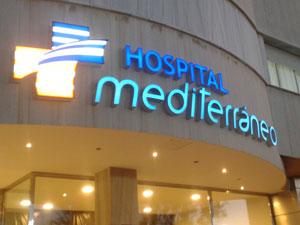Letras corpóreas para Hospital Mediterráneo