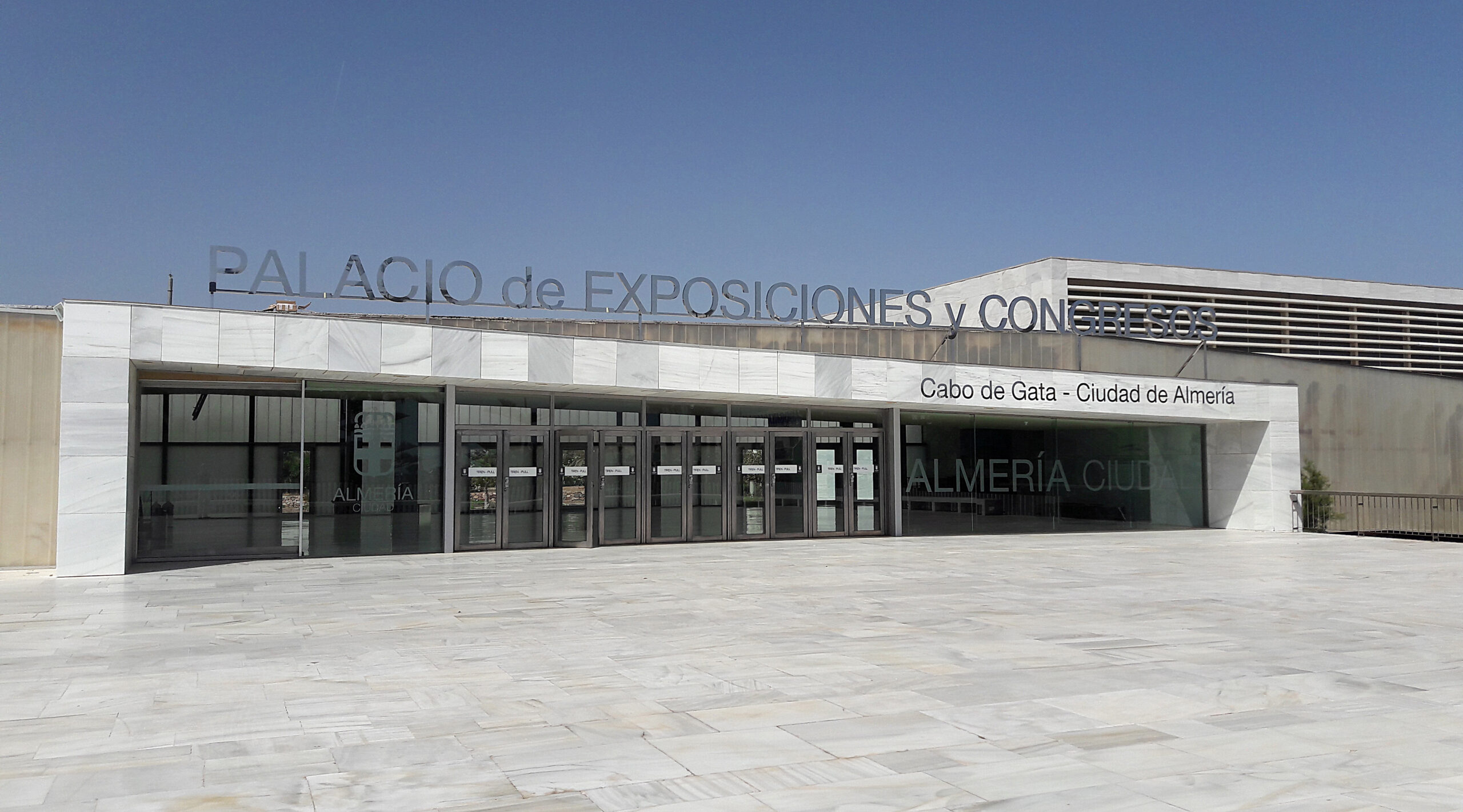 Acero inoxidable Palacio de Congresos de El Toyo - Almería